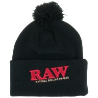 Зимняя шапка «RAW X Rollig Papers Pompom Knit Hat Black»